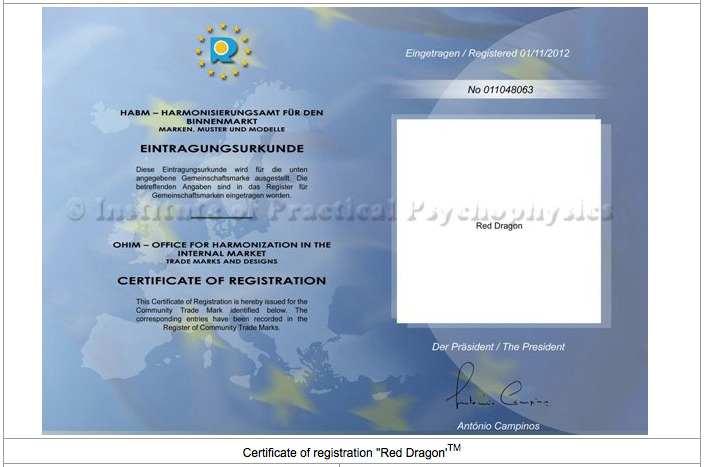 Certificat Red Dragon
